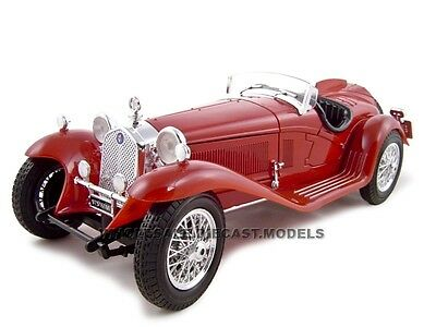 1932 ALFA ROMEO 8C 2300 SPIDER TOURING RED 1:18 DIECAST CAR BY BBURAGO 12063