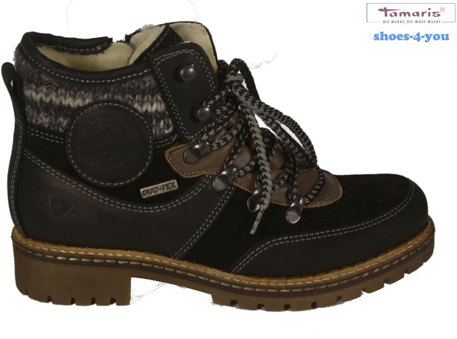 fe506c39019 Tamaris zapatos ata botín botines cuero genuino negro nuevo 9ab880 ...