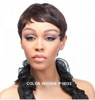 It's A Wig 100% Human Hair Wig 'polly' Short Style Tapered Human Hair Wig