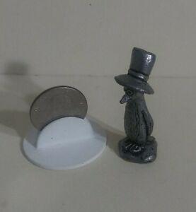 """Vintage Big Hat Penguin  Pewter Figurine 2""""."""