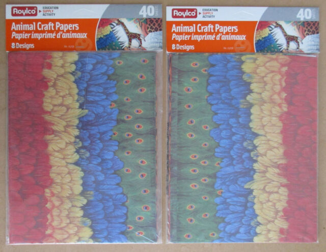 Roylco Animal Craft Papers Pack of 40