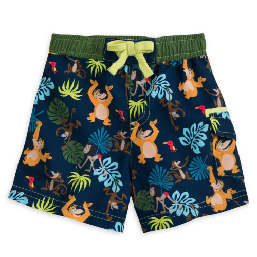 Disney Store The Jungle Book Swimsuit for Baby Swim Trunks Mowgli King Louie NEW