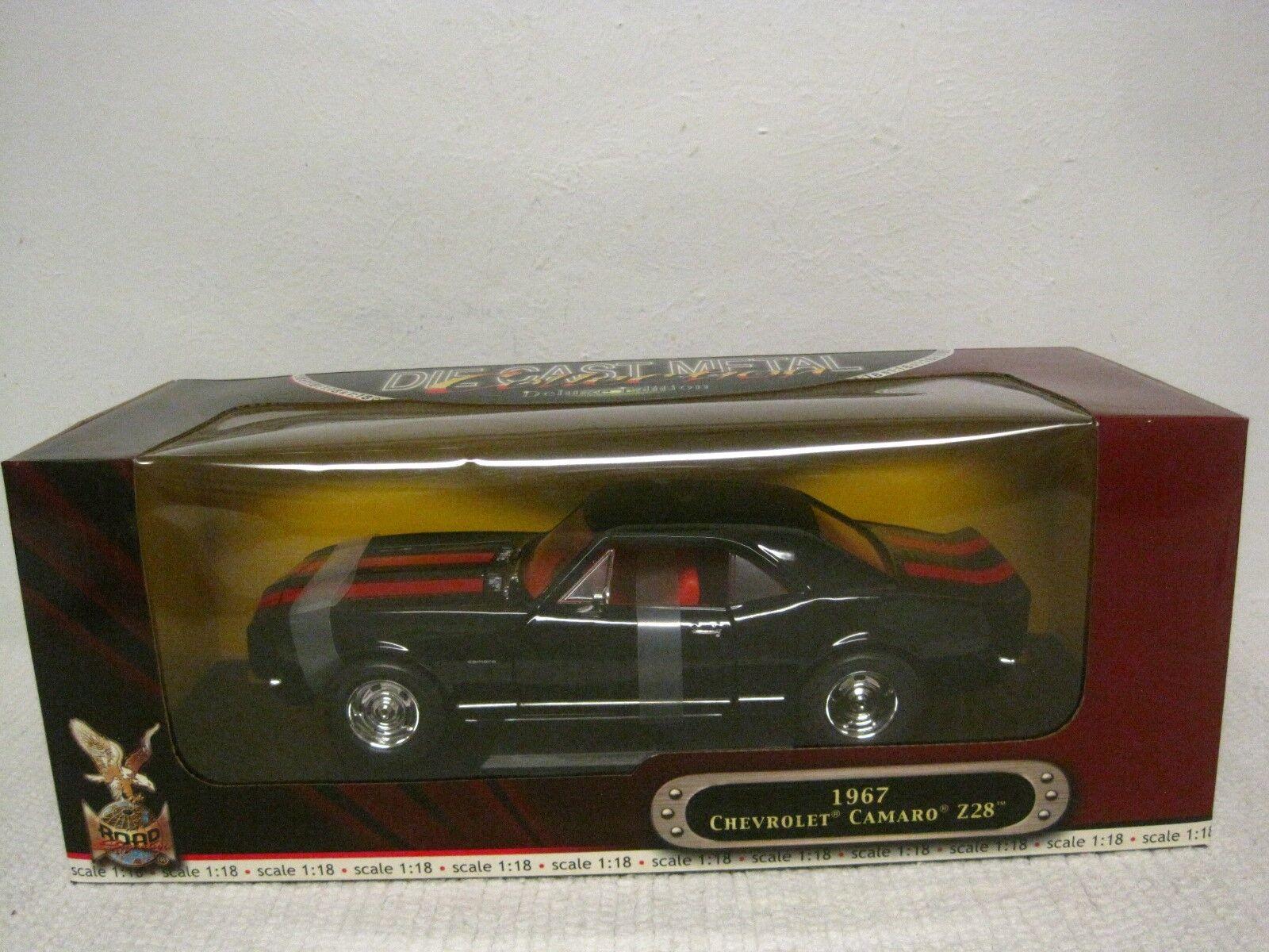 Road Signature Deluxe Edition 1967 Chevrolet Camaro Z28 DIE-CAST 1 18 nero rosso