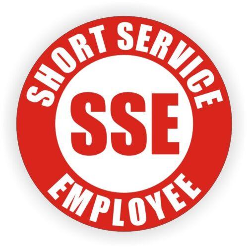 Short Service Employee Hard Hat Sticker \ Safety Helmet Decal Temp SSE Temporary