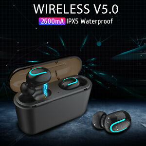 For Iphone 11 Pro Max 6 7 8 Plus X Xr Xs Wireless Headphones Earbuds Headset 5 0 Ebay