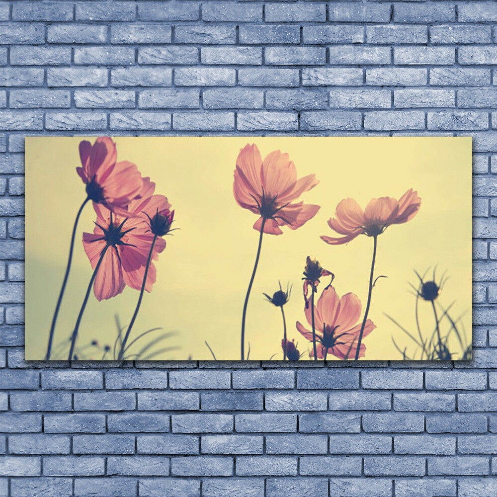 Glass print Wall art 140x70 Image Image Image Picture Flowers Floral 5703d1
