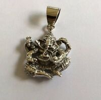 Pure 925 Sterling Silver Dancing Ganesh Pendent