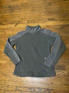 PATAGONIA-SYNCHILLA-Womens-Charcoal-Gray-Full-Zip-100-Polyester-Sweater-Size-M