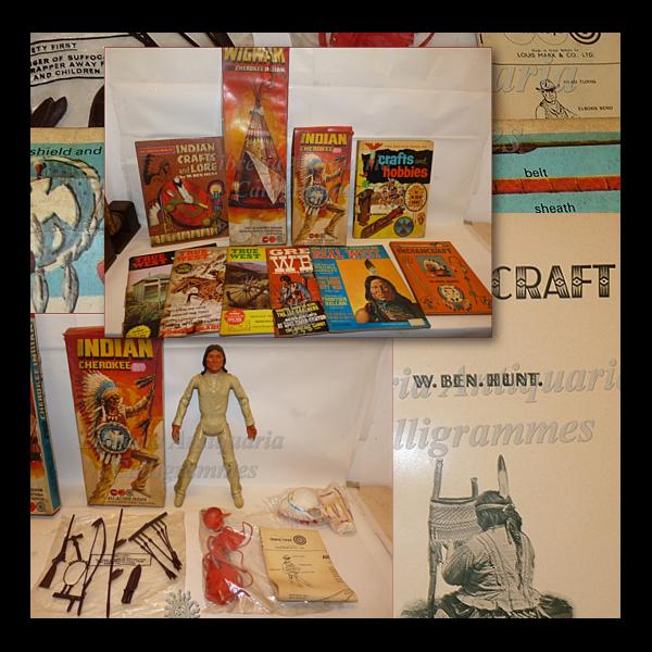 prezzi all'ingrosso INDIAN INDIAN INDIAN CHEROKEE e Tenda WIGWAM marx giocattoli + 3 Libri Ben Hunt Giocattoli FAR WEST  Miglior prezzo