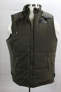98-ROCAWEAR-Camo-Olive-Army-Green-Down-Surplus-Utility-Quilted-Vest-XL-NWT