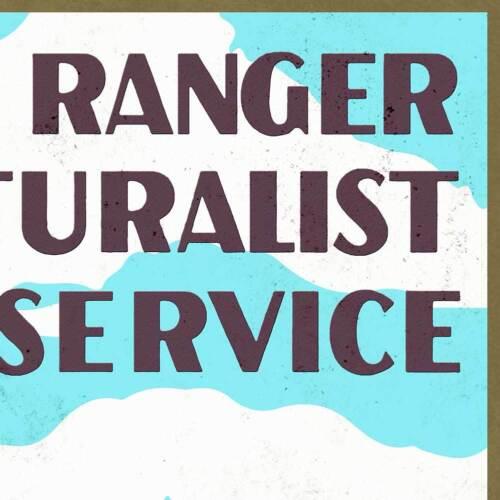 "Sequoia National Park Service WPA California Ranger Art Print Poster 18/"" x 24/"""