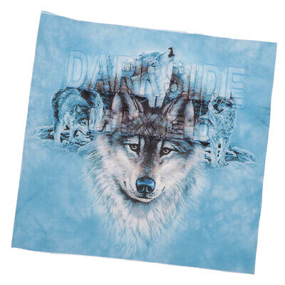 Fashion Wolf Patches DIY Iron On Embroidered Clothes Stickers for T Shirts
