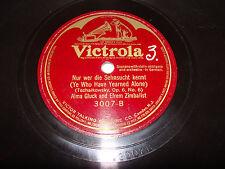 Alma Gluck Efrem Zimbalist 78 Victrola Tschaikowsky Op 6 No 6 German