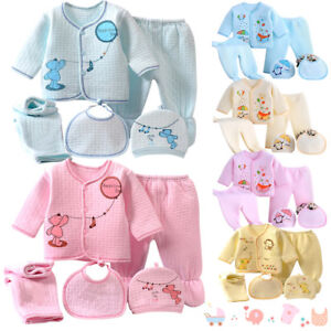 bee767281 Newborn Baby Boys Girls ( 5pcs set) Infant Underwear Set Unisex ...