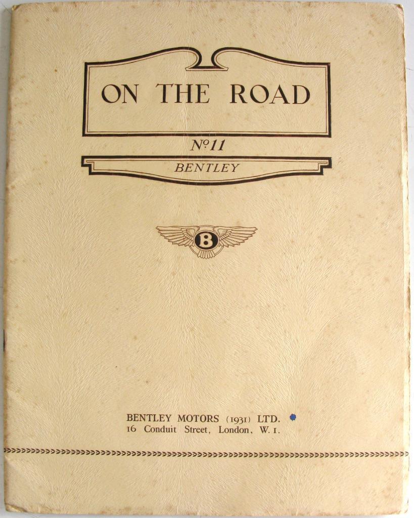 BENTLEY On The Road No.11 circa 1930s Original Car Sales Brochure