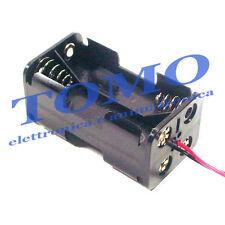 Porta batterie 4 stilo con conduttori BH-343-1A
