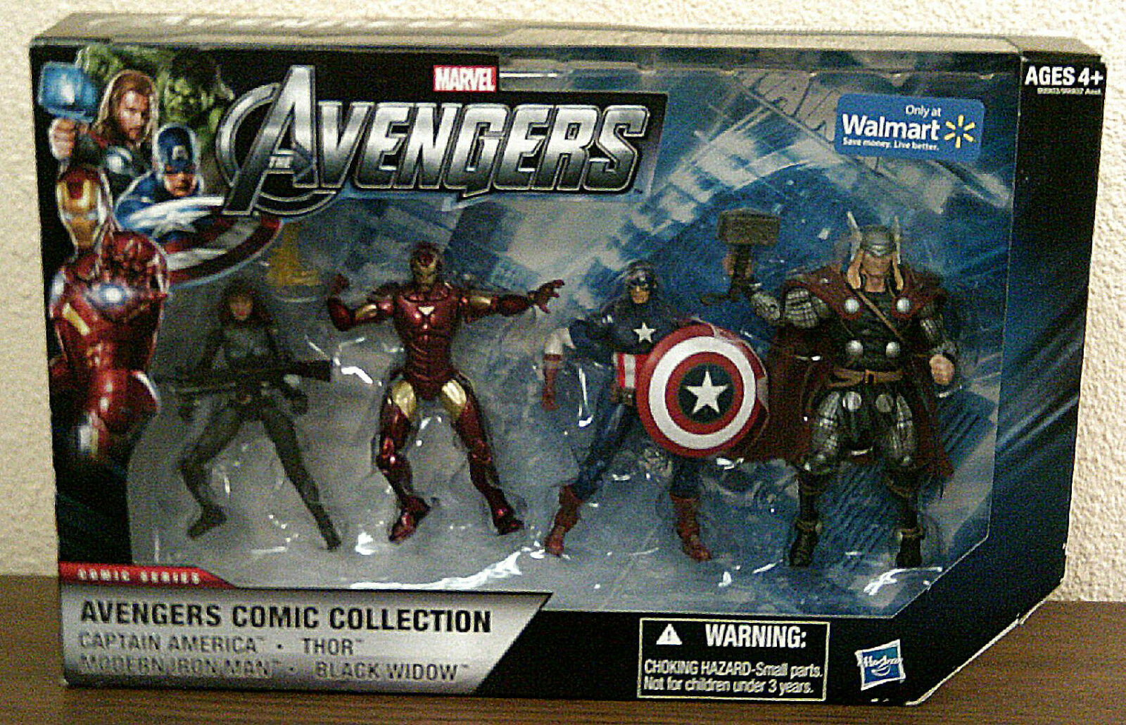 AVENGERS COMIC COLLECTION ACTION FIGURES - 4 PAK - BY HASBRO