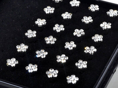Hot Wholesale Lot Body Jewelry Piercing 24pcs 316L Surgical Steel Nose Stud Ring