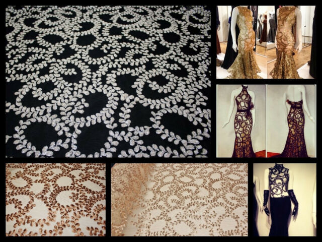 Designer sequin lace fabric, Elegent lace fabric, beautiful heavy sequin