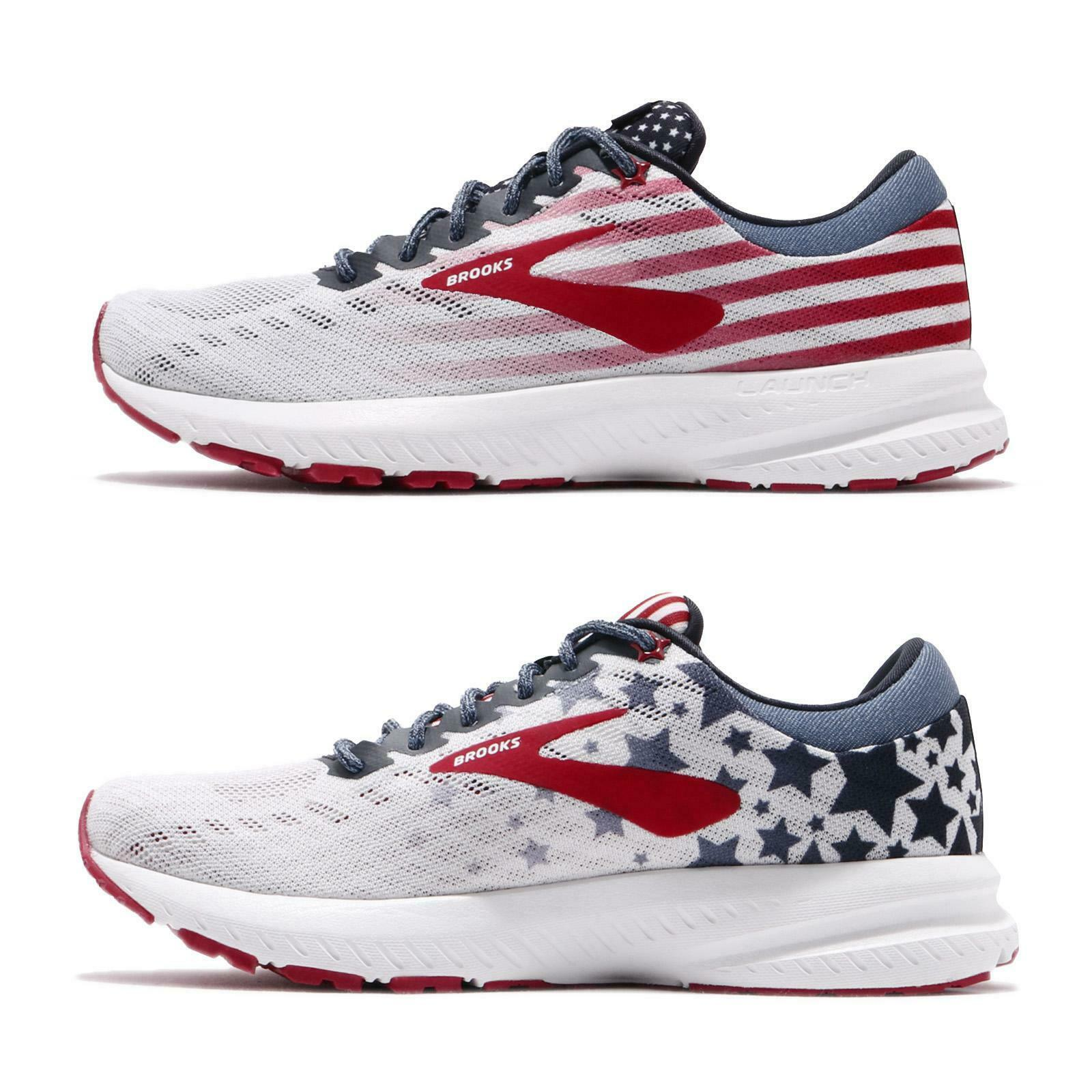 Brooks Launch 6 Go USA Independence Day Edition rouge femmes FonctionneHommest chaussures 1202851 B