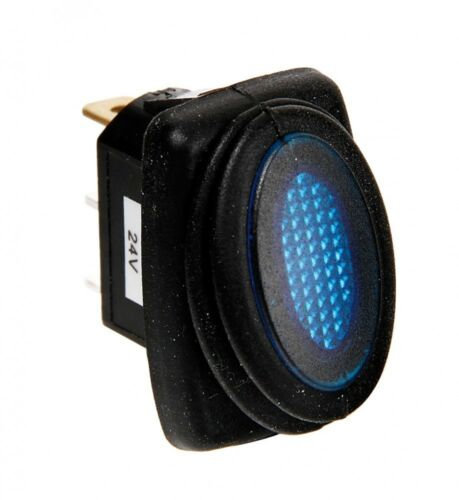 Lampa Mikro Kippschalter 12//24V mit blauer LED