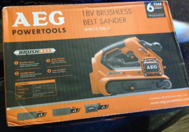 AEG brushless Belt Sander 18V 75mm Without Battery and Charger BHBS1875BL-0