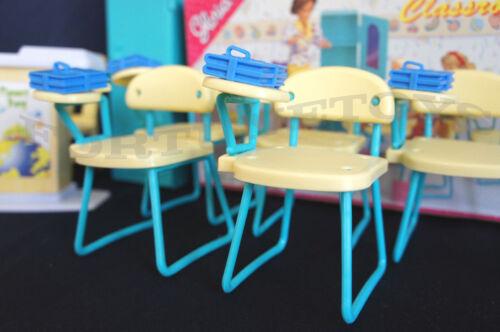 GLORIA Dollhouse Furniture Size Classroom PlaySet 9816 NEW Classroom Chairs