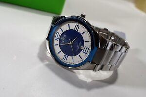 Croton-Men-039-s-Blue-amp-White-Bracelet-Watch-Japanese-Quartz-CN307301SSBL