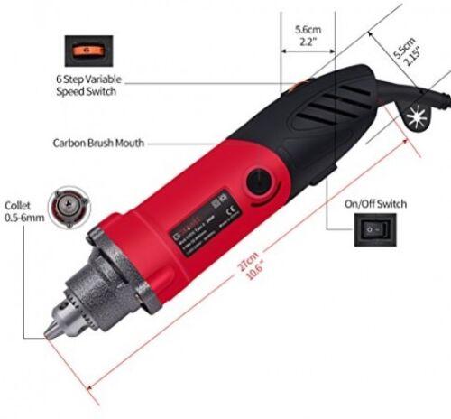GOXAWEE 240W Variable Speed Die Grinder Multi-functional Electric Drill Rotary