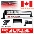 "120W 24"" LED Light bar Spot/Flood combo 4WD Work Light Offroad SUV/UTE Lamp 180W"