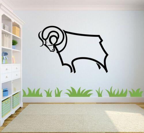 Derby County Football Club PCCD Rams voiture fenêtre maison applique murale Achetez 2 Obtenez 1 Gratuit