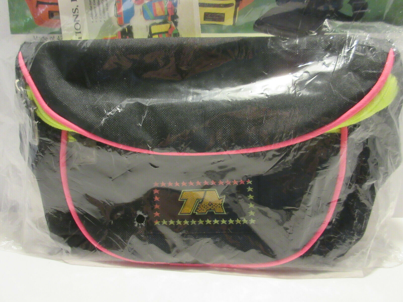 NEW TA Neon Pink & Black Fanny Pack Retro 80s 90s Vacation WDW