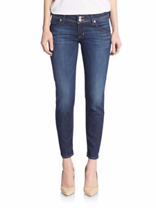Hudson Collin Skinny Cropped Jeans 25