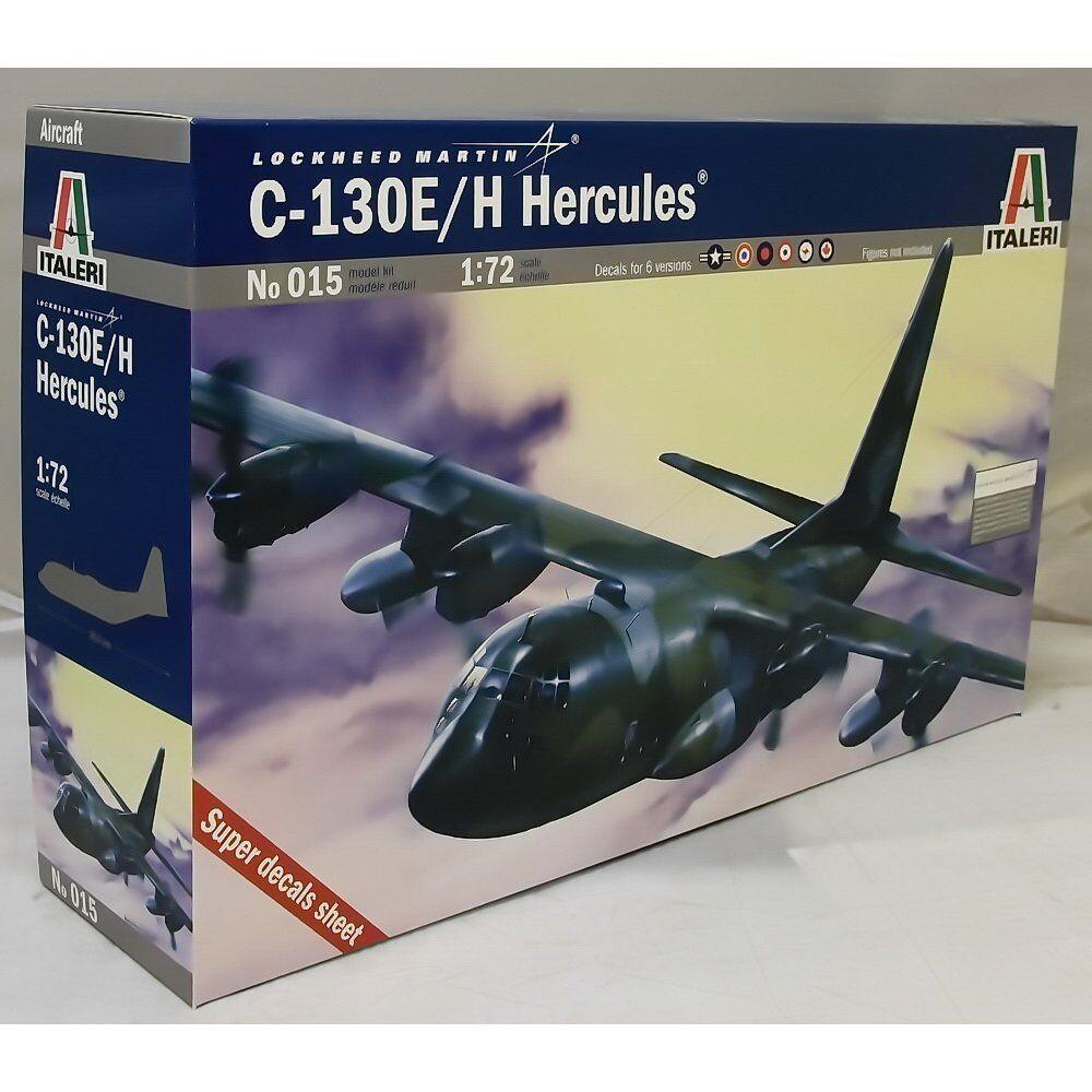 ITALERI 1 72 KIT AEREO LOCKHEED MARTIN C-130E H HERCULES LUNGHEZZA 38,6  ART 015