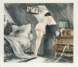 Louis-Icart-Attic-Room-Hand-Signed-1940-etching-and-aquatint-on-paper