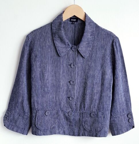 Jacket Ladies Størrelse Navy linned 12 100 Lightweight Hobbs Stripe zUWwCdYUq
