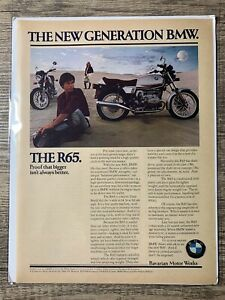 Vintage Print Ad 1979 Bmw R65 Motorcycle The New Generation Bmw Ebay
