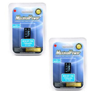 2x-MaximalPower-Battery-For-KONICA-MINOLTA-NP-700-Dimage-X50-X60-DG-X50-K