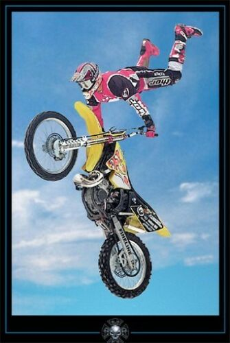 MOTOCROSS POSTER Amazing Action RARE HOT NEW BLUE 1218