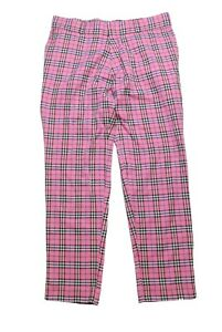 authentic-BURBERRY-London-Pants-Pink-Nova-Check-Plaid-Size-L-trousers