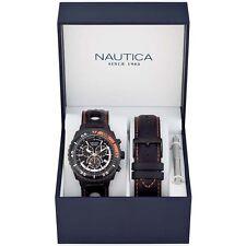 Nautica Uomo Orologio Orologi Watch Man Uhr NST 700 Chrono Schwarz A17636G Nero