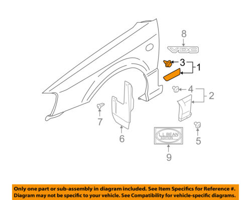 SUBARU OEM 00-04 Legacy Fender-Side Molding Right 91012AE240NN
