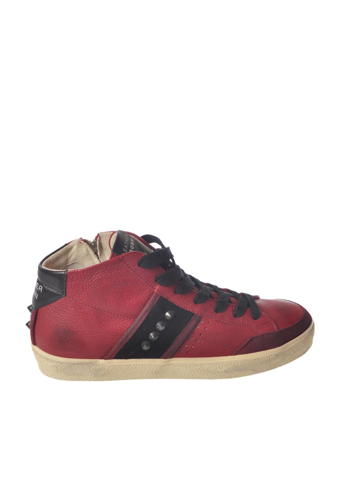 Leather Crown  -  Sneakers - Male - Red - 4378625A184246