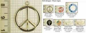 Peace-sign-amp-symbol-decorative-fobs-various-designs-amp-watch-chain-options