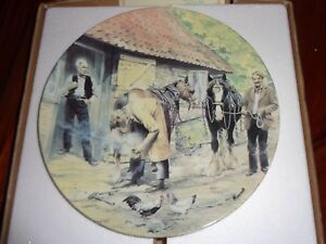 Wedgwood-Danbury-Mint-Collectors-Plate-THE-FARRIER-From-WORKING-HORSES