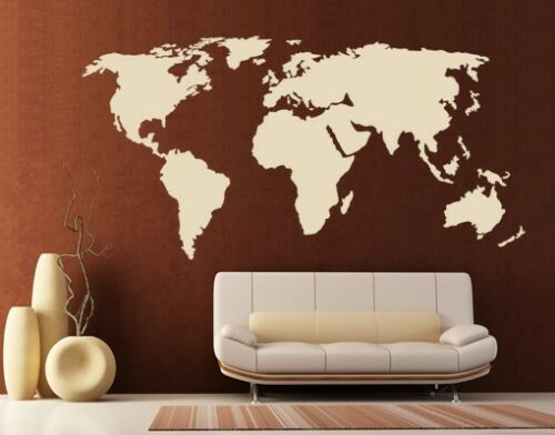Home Decor Mural World Map Wall Decal Sticker Vinyl