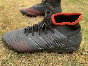 Adidas Predator 19.2 Homme FG Chaussures de football. Noir. Taille UK 7.5 US 8 très bon état