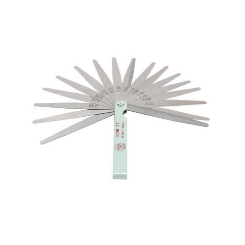 Feeler Gauge Dual Reading Combination Metric Measuring Tools 17 Blades 0.02~1MM