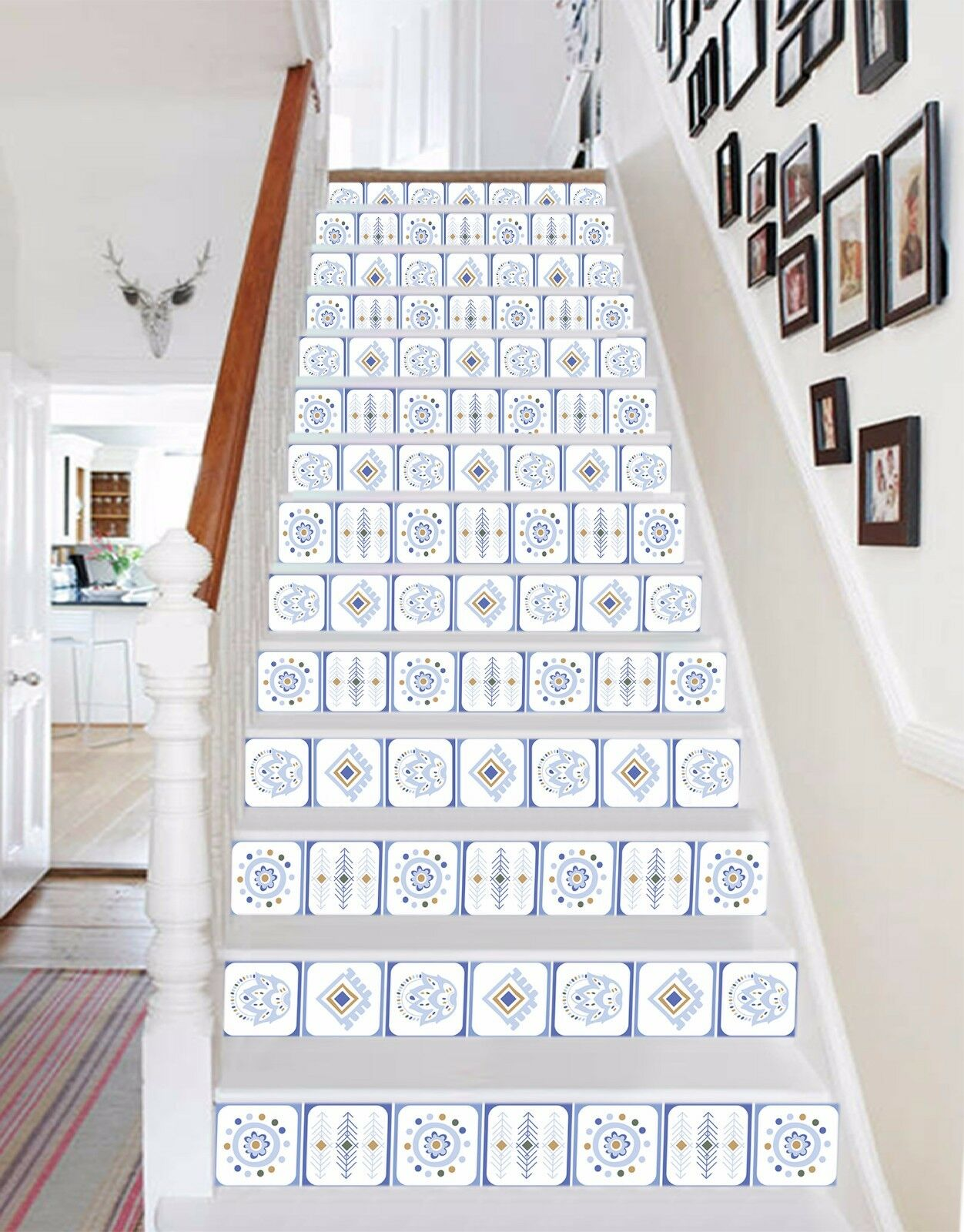3D Grid 447 Stair Risers Decoration Photo Mural Vinyl Decal Wallpaper UK Lemon