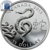 Kanada 15 Dollars Silber 2013 Lunar Serie: Year of the Snake, Jahr der Schlange